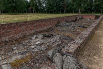 Hole in the ground where a gas chamber used to bed