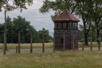 Guard post alongside the fence