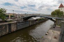 One bridge over the Vltava river