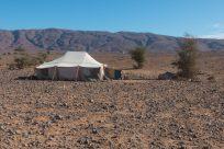 Nomad tent in the desert