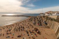 Overlooking the main beach of Ericeira