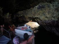 Going through an underground cave