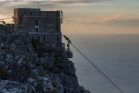 Cable car up to the top of table mountain