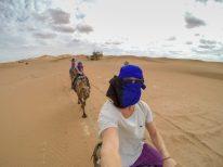 Dan taking a selfie atop the camel