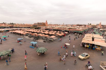 Looking at the medina from the rooftop cafe