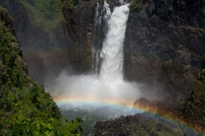 Rainbow in the mist of the falls