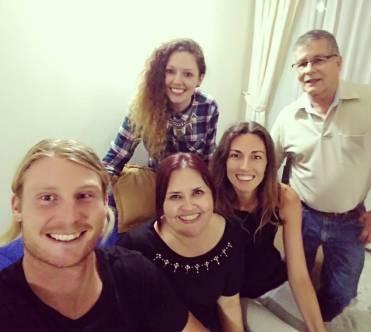Daniel, Diana, Juliana, Tegan and Manuel after a paisa dinner!