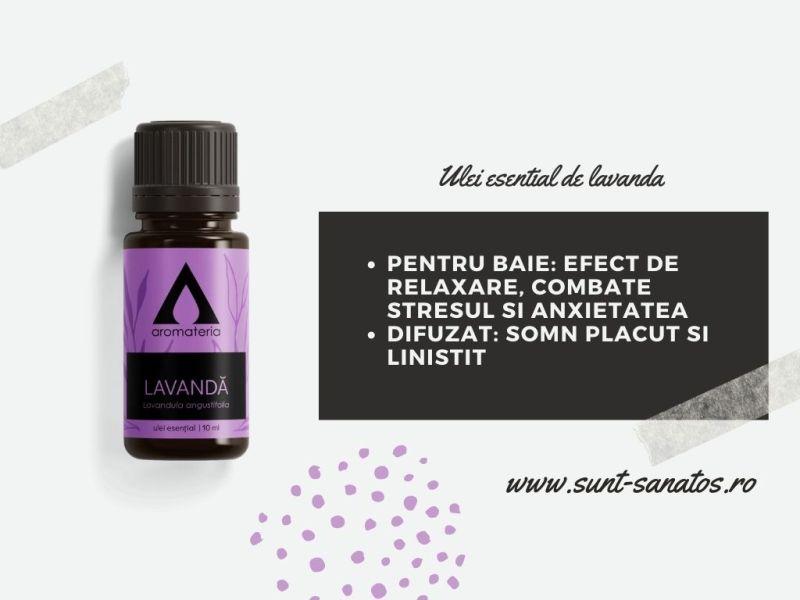 ulei de lavanda pentru aromaterapie,
