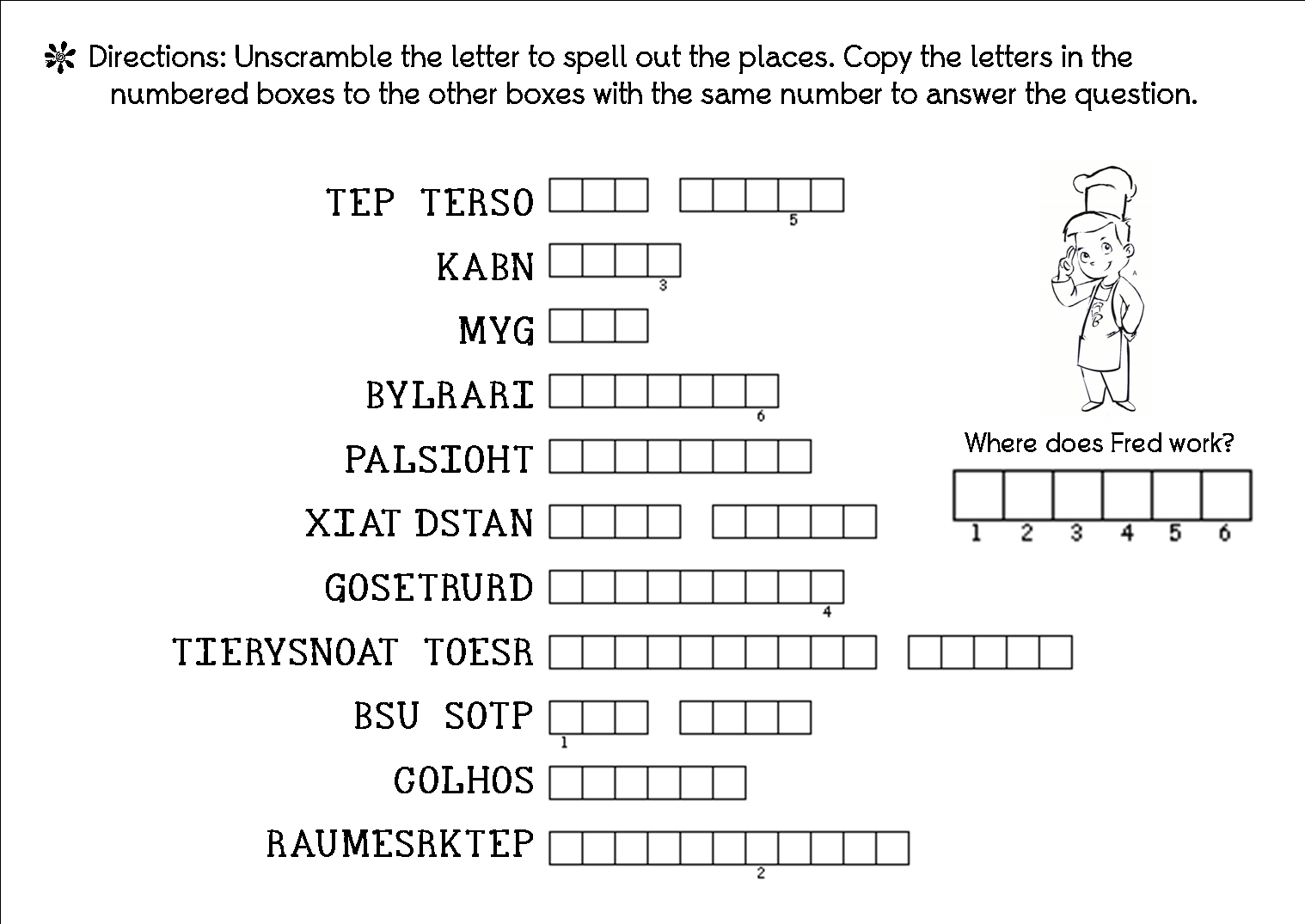 Exam Review Worksheet