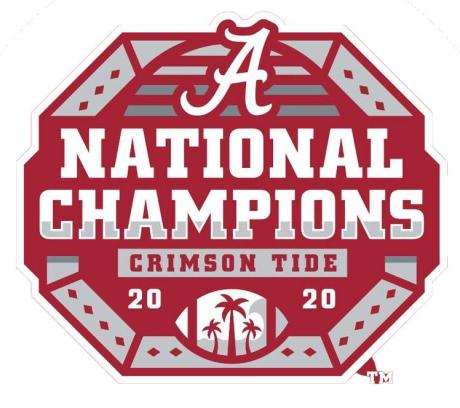 Alabama CFP 2020 Champs