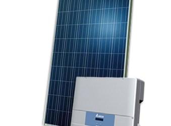2,5 kWp solcelleanlæg med polykrystallinske solcellepaneler