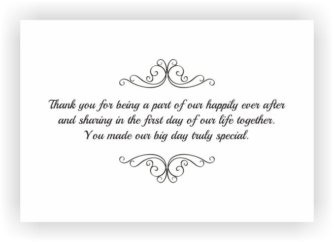 We appreciate your sparing your valuable time for our wedding and the lovely gift.