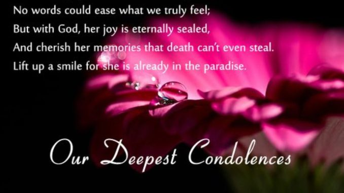 - What to Say when someone Dies