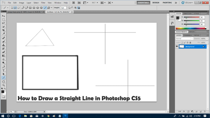 Draw Straight Lines in Photoshop