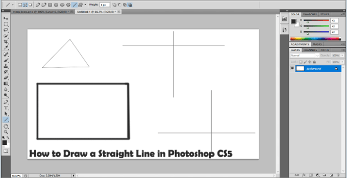 How to Draw a Line on Photoshop:
