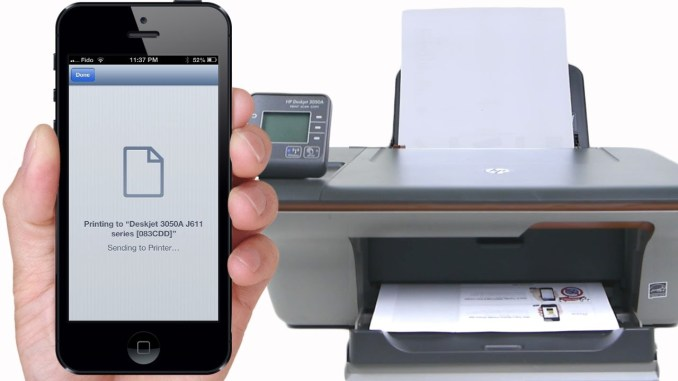Printing from an iPhone or iPad