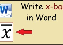 How to Make an X-Bar Symbol in Word