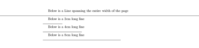 Options/ Commands for LaTeX horizontal lines: