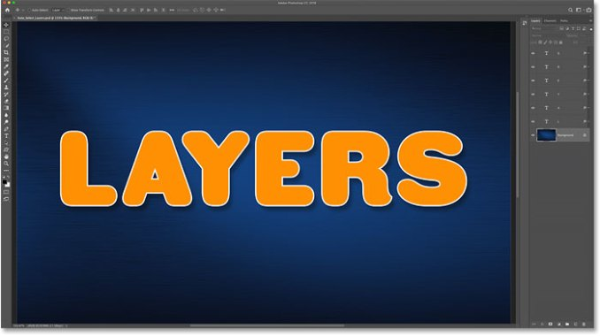How to deselect Layers in Photoshop