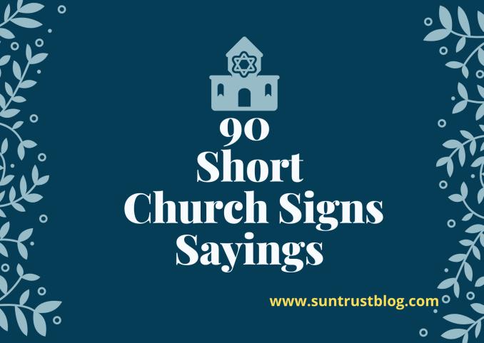 short church signs sayings