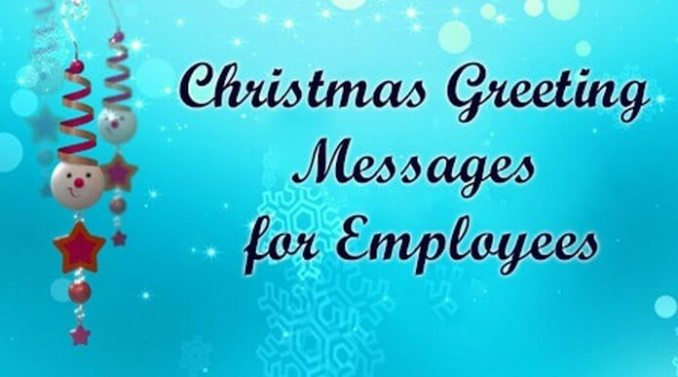 Employee Christmas Card Messages: