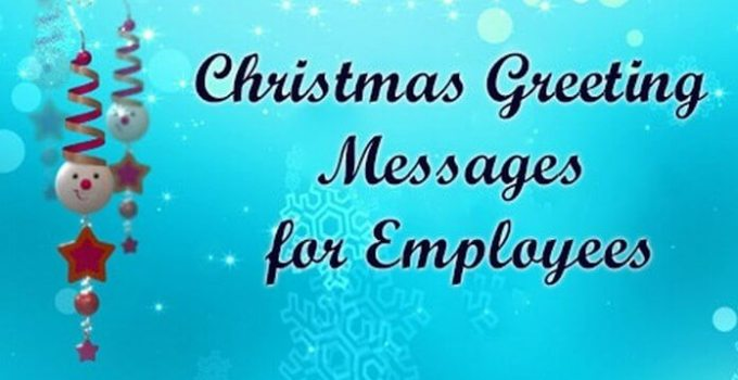 Employee Christmas Card Messages