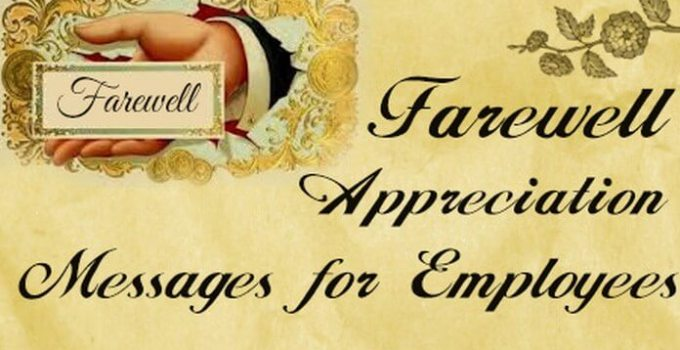 farewell appreciation for employees
