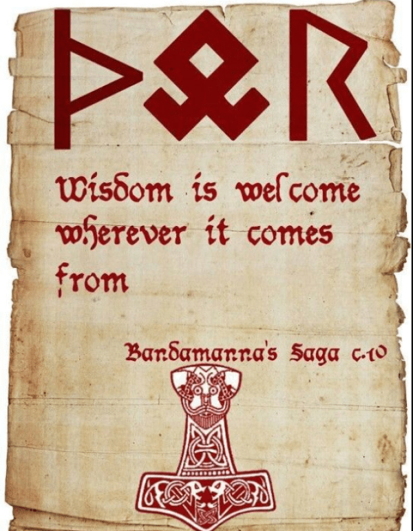Wisdom is welcome wherever it comes from.