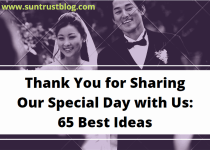 Thanks for sharing our special day