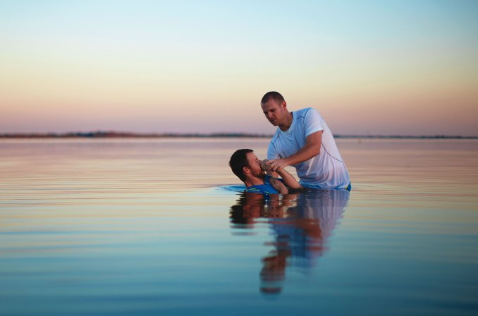 """""""It takes a lot of courage to be baptized in His name, to die to the old self and be forever changed. May God bless your life for stepping out for Him, Proclaiming unto others the faith you have within."""" ( Baptism Card Messages )."""