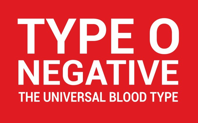 type o negative blood group