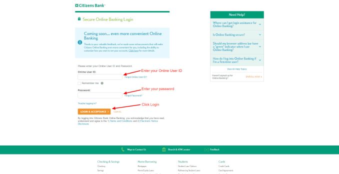 Credit Card Online Login For Citizens Bank - Steps And Other Details