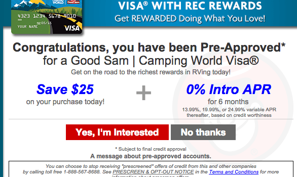 Camping World Credit Card