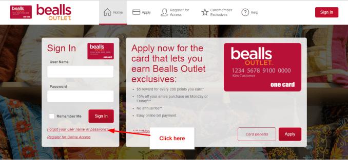 Bealls Outlet Credit Card Login, Register and Payment
