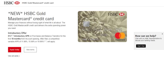 The perks of HSBC Gold Mastercard Credit Card