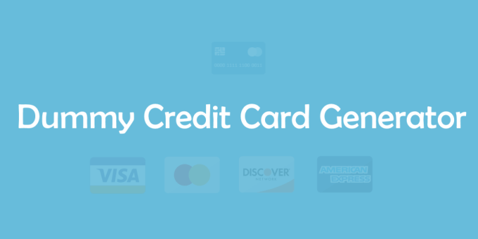 Tips to Generate Different Dummy Credit Cards