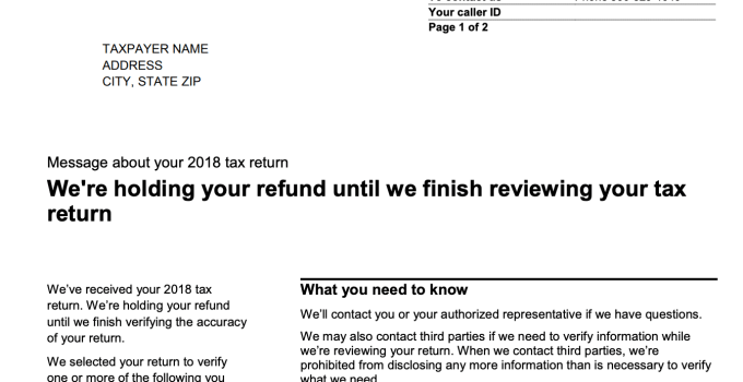 An IRS Audit Letter