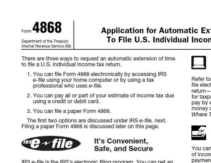Who Can File Form 4868?