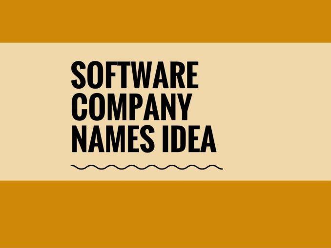 software Company Name Ideas