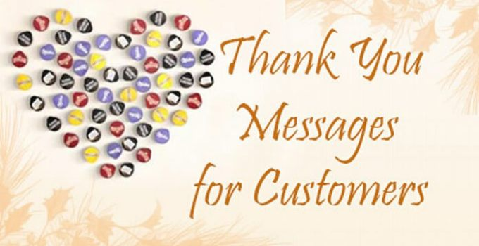 thank you messages for ustomers
