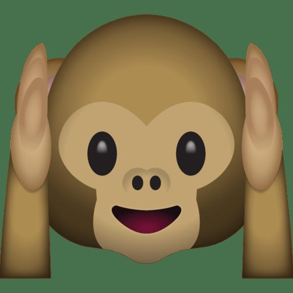 Hear No Evil Monkey snapchat