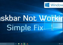 Windows 10 Taskbar not Working?