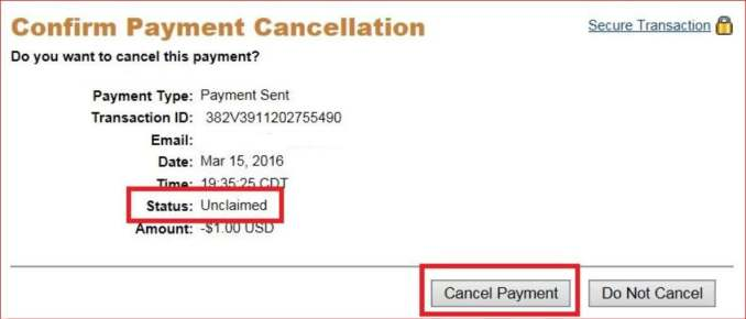 Is it Possible to cancel a PayPal payment?