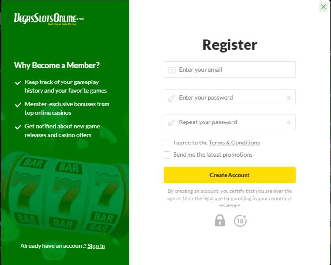 Registering Through The Casino Software