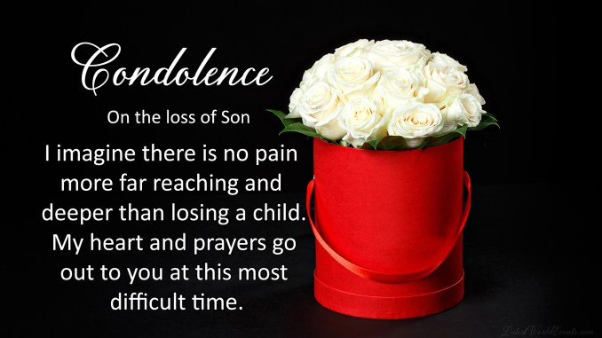 Most Touching Sympathy Messages for Loss of a Grown up Son