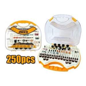 Kit accessoires pour mini perceuse de 250pcs INGCO AKMG2501
