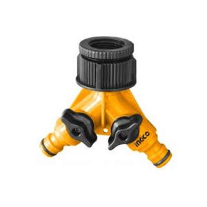 Raccord de tuyau d'arrosage en plastique à 2 voies INGCO HHC1202 - Connecteur de tuyau