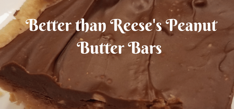 Better than Reese's Peanut Butter Bars