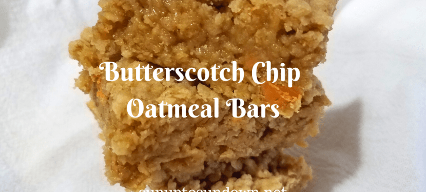 Butterscotch Chip Oatmeal Bars