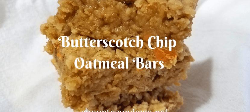 Butterscotch Chip Oatmeal Bars